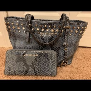 Michael Kors Exotic Tote and Wallet